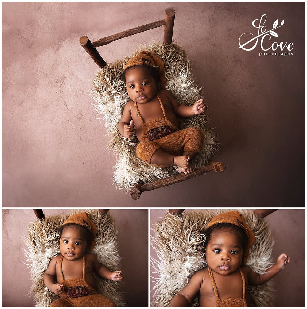 newborn photography in a bed