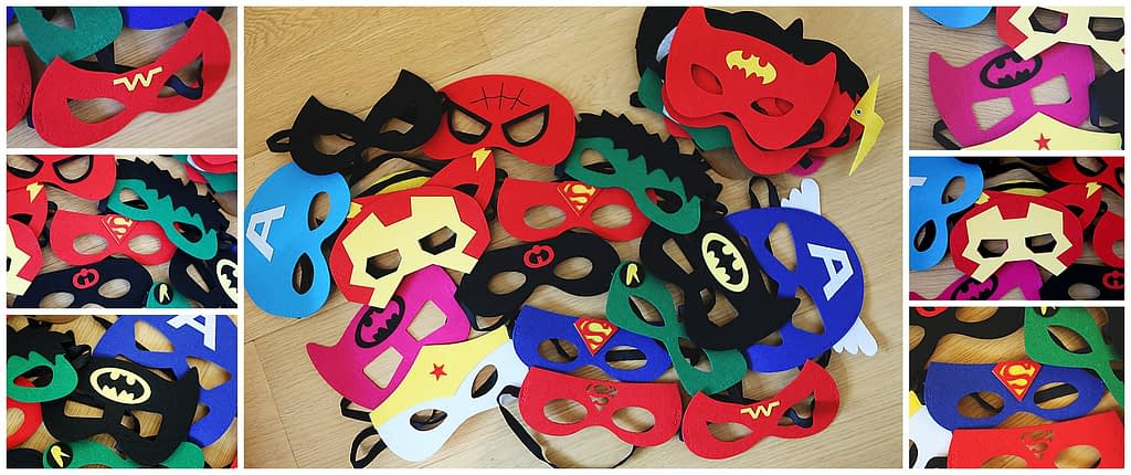 super hero mask for a photoshoot